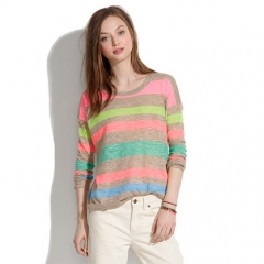 Studio Sweater in Stripepop at Madewell