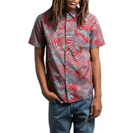 Stussy Mens Palm Button Up Short-Sleeve Shirt at Amazon