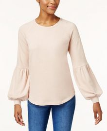 Style   Co Bishop-Sleeve Sweatshirt  Created for Macy s Women -  Tops - Macy s at Macys