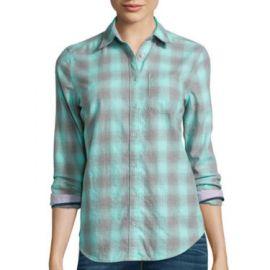 Stylus Long Sleeve Brushed Twill Plaid Shirt at JC Penney