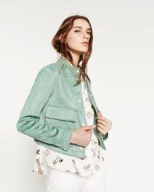 Suede Effect Jacket at Zara