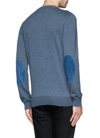 Suede Elbow Patch Sweater at Lane Crawford