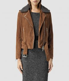 Suede Western Biker Jacket by All Saints at All Saints