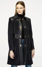 Suede and Leather Coat by Escada at Escada