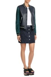 Suede and Leather Varsity Jacket by Rag and Bone at StyleBop