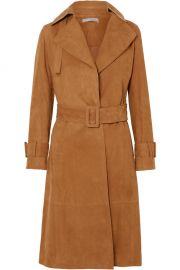 Suede trench coat at Net A Porter