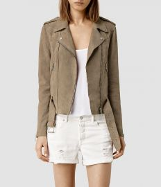 Suede western biker jacket at All Saints