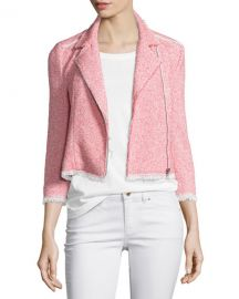 Summer Tweed Zip-Front Jacket by Rebecca Taylor at Bergdorf Goodman