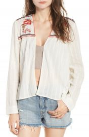 Sun   Shadow Embroidered Gauze Jacket at Nordstrom
