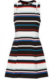 Sunday striped stretch-woven mini dress at The Outnet