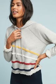Sundry Chenille Striped Hoodie at Anthropologie