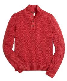 Sunfaded Button Mockneck at Brooks Brothers