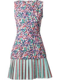 Suno Floral Print Pleated Skirt Dress - The Webster at Farfetch