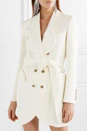 Sunshine belted cotton-blend bouclé mini dress at Net A Porter