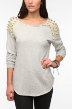 Super studded sweatshirt by Silence and Noise at Urban Outfitters