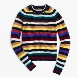 Supersoft Wool Sweater In Multistripe at J. Crew