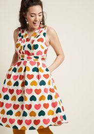 Surely Sweet A-Line Dress with Pockets at ModCloth