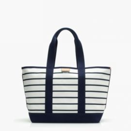 Surfside canvas tote bag in stripe at J. Crew