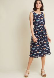 Surprise Essential Midi Dress in Sailboats at ModCloth