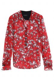 Susan floral-print silk-georgette blouse at The Outnet