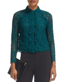 Suzie Scalloped Lace Shirt by Whistles at Bloomingdales