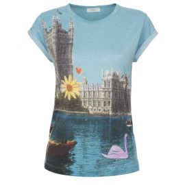 Swan Postcard Print Tee at Paul Smith