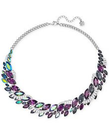 Swarovski Silver-Tone Rainbow Crystal Collar Necklace at Macys