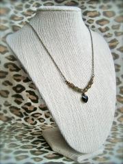 Swarovsky Black Heart Pendant Necklace at Megs Broken Wings