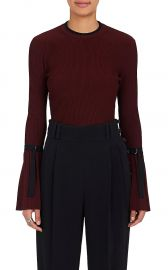 Sweater: Flared-Sleeve Rib-Knit Sweater by Phillip Lim 3.1 at Barneys