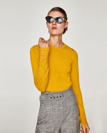 Sweater with Pearly Cuffs by Zara at Zara