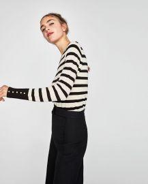 Sweater with Pearly Cuffs by Zara at Zara