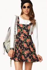 Sweet floral overall dress at Forever 21