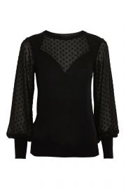 Sweetheart Chiffon Hybrid Sweater at Topshop