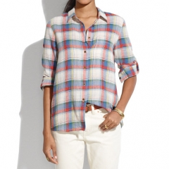 Swingset plaid shirt at Madewell