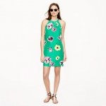 Swoop dress in punk floral at J. Crew