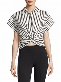 T by Alexander Wang T by Twisted Front Striped Shirt at Saks Fifth Avenue