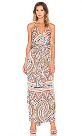 T-Bags LosAngeles Twist Front Maxi Dress in Navy Marble at Revolve