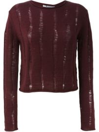 T By Alexander Wang Distressed Jumper at Farfetch