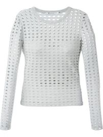 T By Alexander Wang Perforated Longsleeved Top - at Farfetch