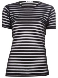 T By Alexander Wang Semi Sheer Striped Top - at Farfetch