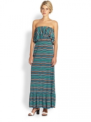 T-bags Los Angeles - Strapless Ruffle Maxi Dress at Saks Fifth Avenue
