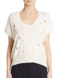 T by Alexander Wang - Distressed Short Sleeve Sweater at Saks Fifth Avenue