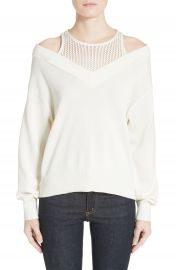 T by Alexander Wang Cotton Blend Sweater with Inner Tank at Nordstrom