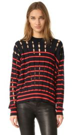 T by Alexander Wang Crew Neck Pullover with Slits at Shopbop