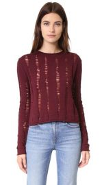 T by Alexander Wang Dropped Needle Merino Cropped Pullover at Shopbop