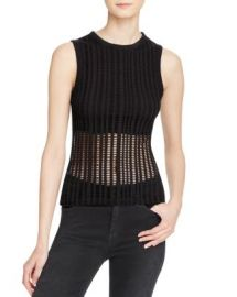 T by Alexander Wang Jacquard Jersey Tank at Bloomingdales