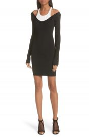 T by Alexander Wang Layered Racerback Sweater Dress at Nordstrom