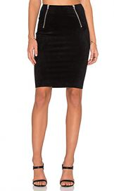 T by Alexander Wang Scuba Mini Skirt in Black at Revolve