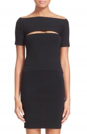T by Alexander Wang Slash Detail Stretch Knit Bandeau Top at Nordstrom
