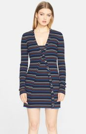 T by Alexander Wang StripeSuperfine Merino Wool Cardigan at Nordstrom